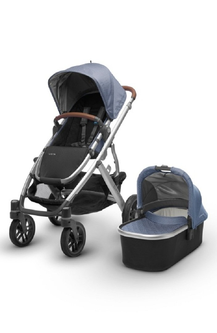 Uppababy Vista Henry Blue Marl Silver Saddle Leather