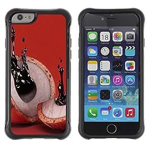 "Hypernova Defender Series TPU protection Cas Case Coque pour Apple Iphone 6 PLUS 5.5 [Resumen de tinta Significado Rojo""]"