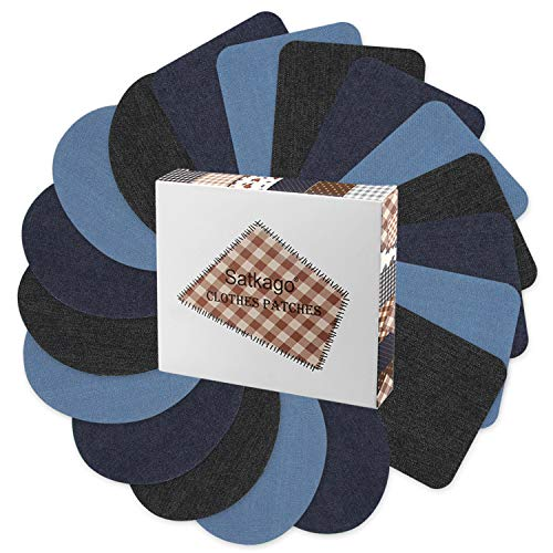 Used, Iron on Patches Denim Patches for Inside Jeans, Satkago for sale  Delivered anywhere in USA