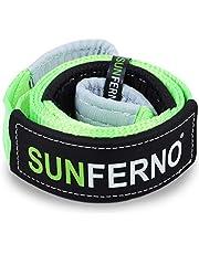Alça de guincho Sunferno Tree Saver com certificação de 15,8 kg | Gancho a alça com o seu guincho | 7,6 cm x 2,2 m | Acessório de corda de recuperação e reboque off-road de emergência resistente para 10 x 10 cm e caminhões