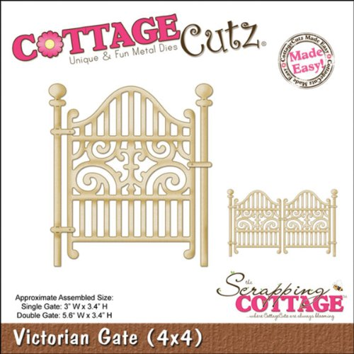 Gate Victorian (CottageCutz 4X4512 Die Cuts with Foam, 4 by 4-Inch, Victorian Gate Made Easy)