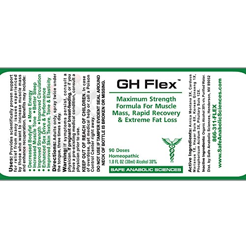 G H Flex - Natural Muscle Mass & Recuperative Agent By Top Legal Steroids & Muscle Stacks | 3-Month Stack Supply | Rapid Recovery, Muscle Mass & Stamina | Bodybuilding Supplements by Safe Anabolic Sciences (Image #4)