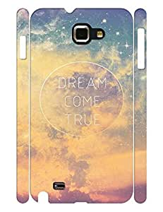 Morden Series Cell Phone Case With Galaxy Quotes Design Solid Case Cover for Samsung Galaxy Note I9220
