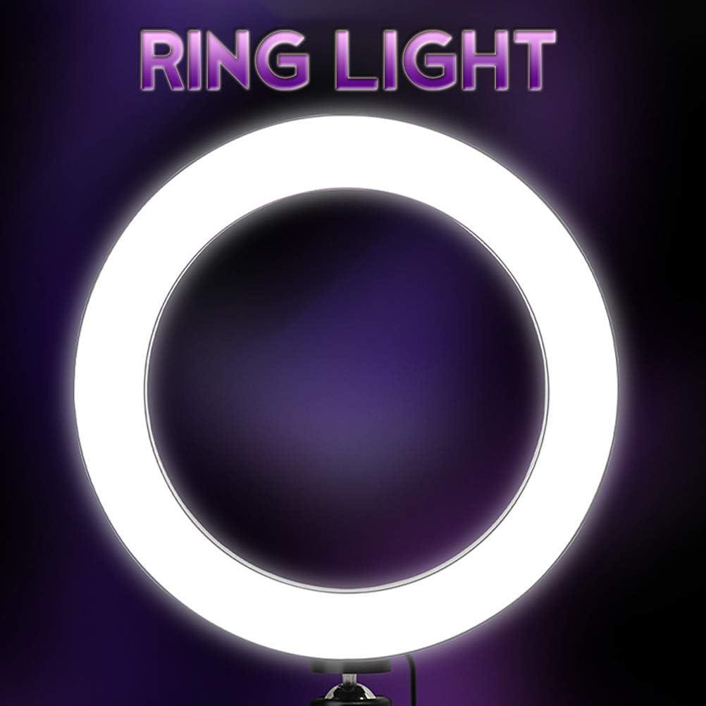 Ring light LED Kit with 50cm//120cm//160cm//210cm Light Stand,3 Mode Light Brightness Adjustable for YouTube Video Shooting