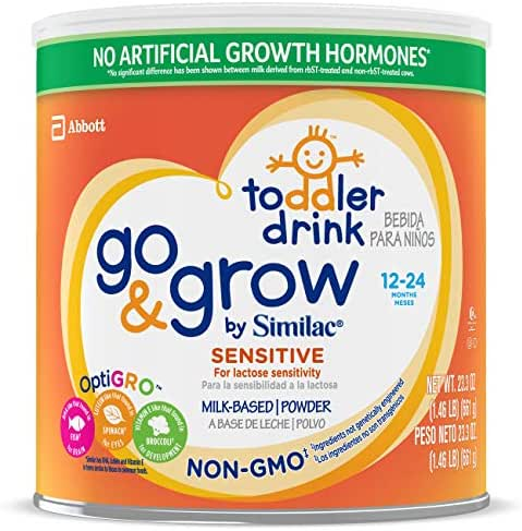 Similac Go and Grow Sensitive Toddler Drink, Stage 3 Powder, 23.3 Ounce,Pack of 6
