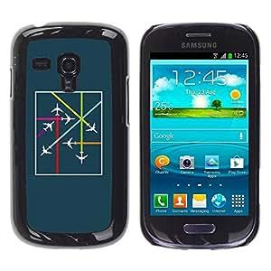 Be Good Phone Accessory // Dura Cáscara cubierta Protectora Caso Carcasa Funda de Protección para Samsung Galaxy S3 MINI NOT REGULAR! I8190 I8190N // Plane Airplane Traffic Controlle