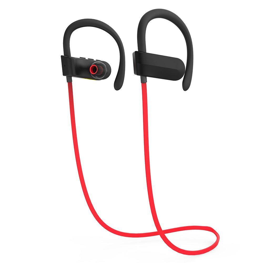 Deportes Auriculares inalámbricos Bluetooth 4.1 auriculares estéreo Sweatproof auriculares aptX HIFI con micrófono cancelación de ruido auriculares Fit para ...