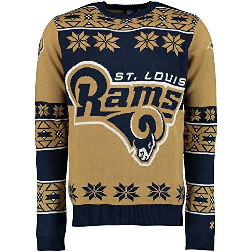 Klew Ugly Sweater St Louis Rams, Medium by Klew