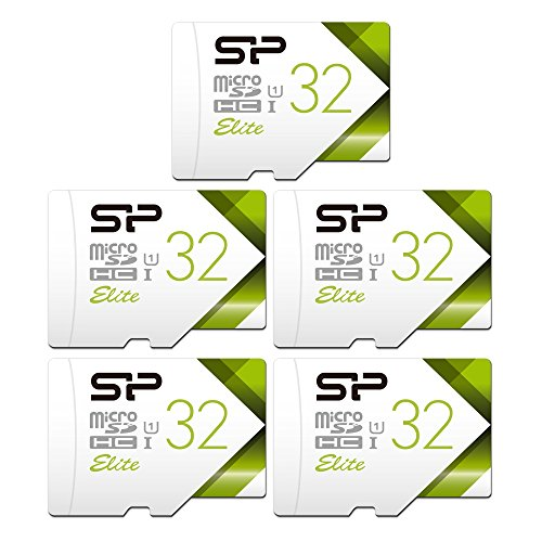 Silicon Power 32GB 5-Pack High Speed MicroSD Card with Adapter by SP Silicon Power