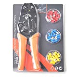 IWISS Ratchet Insulated Wire Terminal Crimping Plier with FREE Ferrules