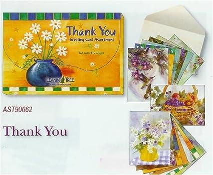 Amazon leanin tree thank you card greeting card assortment leanin tree thank you card greeting card assortment m4hsunfo
