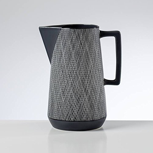 (Torre & Tagus 902453 Bergen Weave Ceramic Pitcher, Matte Grey)