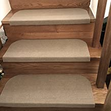 yazi Stair Treads Carpet Non-skid Backing Step Rugs Stair Carpet Runners Area Rug Mat 31.5 x 9 inch
