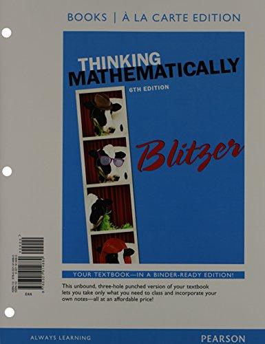 Thinking Mathematically(Ll) W/Mymathlab