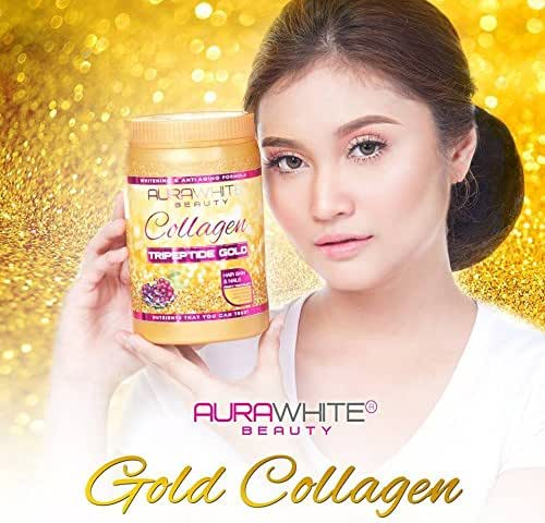 AURA WHITE GOLD COLLAGEN TRIPEPTIDE Whitening & Anti Aging Drink Healthy Smooth Skin HAIR & NAILS