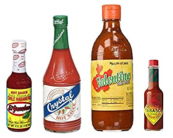 The Best Everyday Hot Sauce Variety Pack; El Yucateco Chile Habanero Red Hot Sauce,