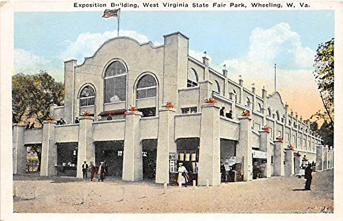 Wheeling, WV, USA Postcard Exposition Building, West Virginia State Fair Park Unused