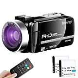 Video Camera Camcorder YouTube Live Streaming Vlogging Camera Recorder Ultra HD 1080P 24MP