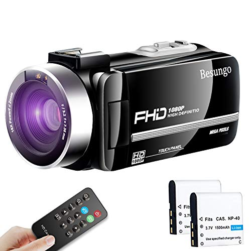 Video Camera Camcorder YouTube Live Streaming Vlogging Camera Recorder Ultra HD 1080P 30FPS 24MP Remote Control IR Night Vision 3.0