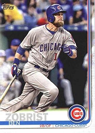7cb05d912 Amazon.com: 2019 Topps Baseball #9 Ben Zobrist Chicago Cubs ...