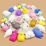 Calans Mochi Squishy Toys, 30 Pcs Mini Squishy