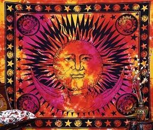 Handicrunch Psychedelic Celestial Indian Sun Hippie