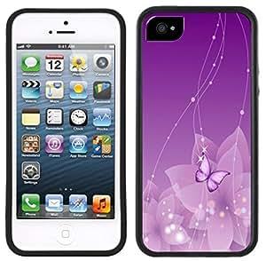 Purple Butterfly Handmade iPhone 5C Black Case