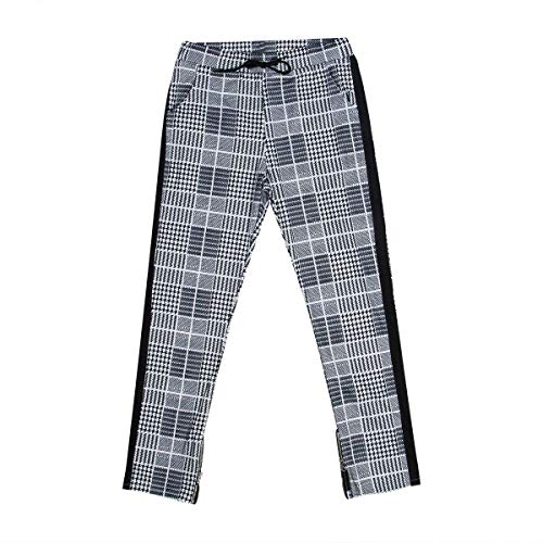 (Sejardin Men's Jogger Pants Stretch Slim Fit Trousers Classic Plaid Fashion Casual Sweatpants with Pockets (X-Large,)