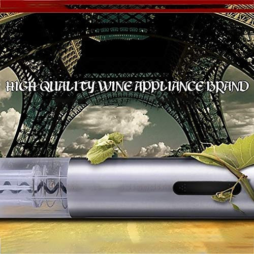 ZYG.GG Electric Bottle Opener, Rechargeable Wine Opener, Professional Electric Corkscrew Wine Accessories with Foil Cutter, Vacuum Stopper, Pourer and USB Charger Cable, Stainless Steel by ZYG.GG (Image #4)