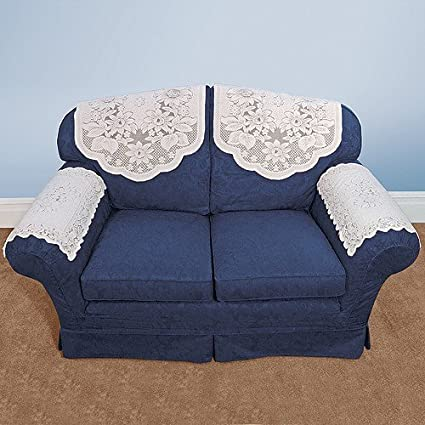 Fine Floral Lace Sofa Arm Covers Download Free Architecture Designs Scobabritishbridgeorg