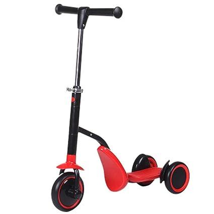 Amazon.com: SAN_Q Patinete de tres ruedas 2 en 1 para niños ...