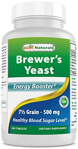Best Naturals, Brewers Yeast 7-1/2 Grains with vitamin B1, Vitamin B2 and Niacin,500 mg,240 Tablets