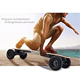 37 Inch Electric Longboard of Dual Motors 22 MPH, E-go Electric Longboard with Replaceable Off-road Wheels Wireless Remote Control [US STOCK]