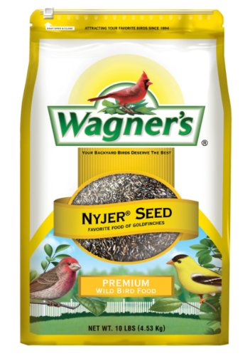Wagner's 62050 Nyjer Seed Bird Food, 10-Pound Bag (Best Bird Feeder For Niger Seed)