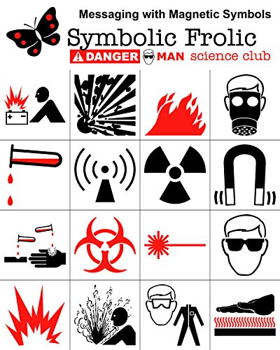 Amazoncom Dangerman Science Club Safety Symbol Refrigerator