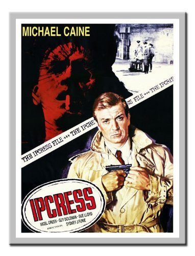 iPosters Ipcress File Michale Caine Movie Print Magnetic Memo Board Silver Framed - 41 X 31 Cms (approx 16 X 12 Inches) ()
