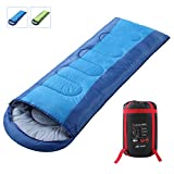 Semoo Envelope Sleeping Bag - Lightweight Portable, Waterproof, Comfort With Compression Sack - Great For 3-4 Season Traveling,Backpacking, Camping, Hiking