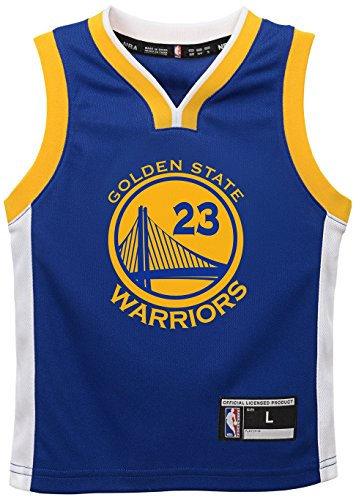 NBA Golden State Warriors Draymond Green Youth Boys Replica Player Road Jersey, Small (8), Blue