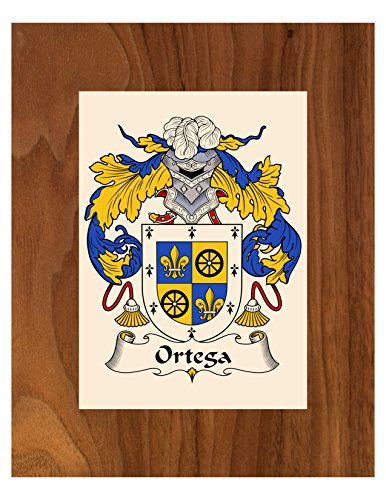 Ortega Coat of Arms / Ortega Family Crest 8X10 Photo Plaque, Personalized Gift, Wedding Gift (Family Surname Crest)