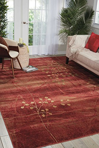 Nourison Somerset (ST74) Flame Rectangle Area Rug, 3-Feet 6-Inches by 5-Feet 6-Inches (3'6