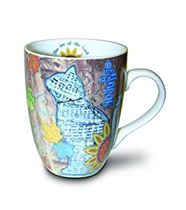 Divinity Boutique Inspirational Ceramic Mug, Autumn Cat with Scripture, Multicolor by Divinity Boutique