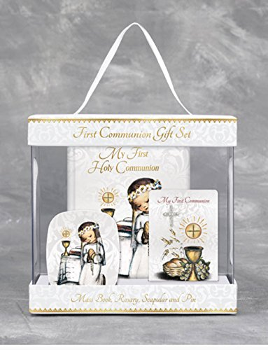 Hummel Gift (Girl's Hummel First Communion Gift Set Mass book, Rosary, Scapular and Pin Gift Boxed)