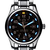 Gosasa Tritium Luminous Military Dive Sports Waterproof Quartz Mens Watch Full Steel Male Watches