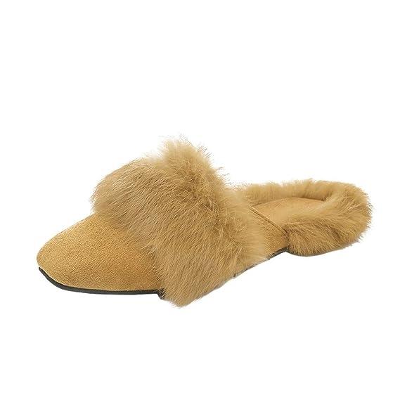 Zapatillas de Estar por casa ZARLLE Mujer Zapatillas Calientes Otoño Invierno Pantuflas De Interior Suave Deslizadores