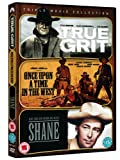 Westerns Triple - True Grit (1969) / Once Upon A Time In The West / Shane [DVD], [Region 2 - Non USA Format] [UK Import]