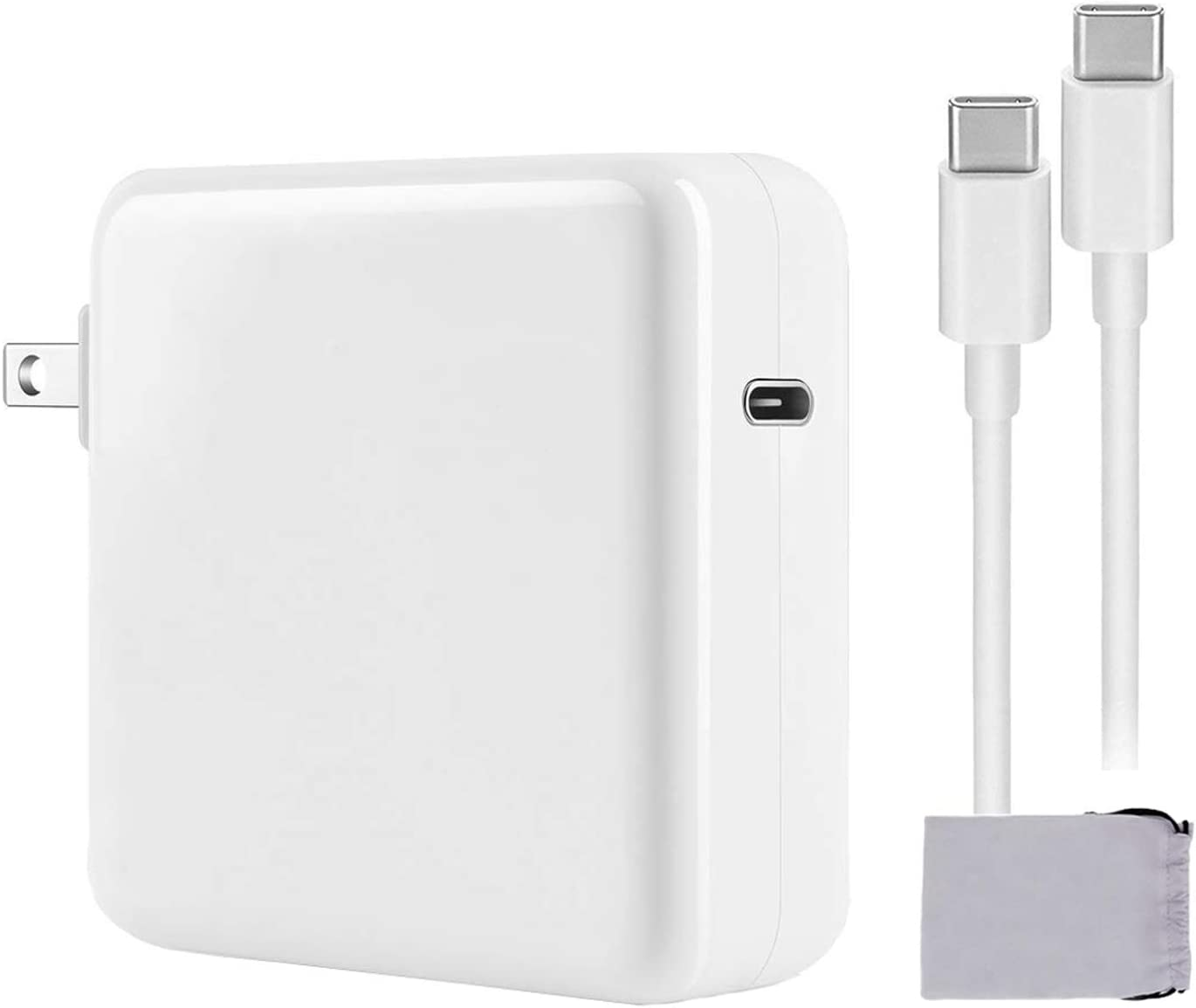Mac Book Pro Charger, 87W USB C Power Adapter Compatible with MacBook Pro 15 Inch 13 Inch 2020/2019/2018 Include Charge Cable(6.6ft)