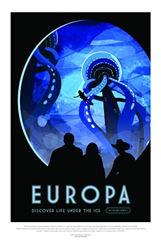 Europa NASA Space Travel Poster 24x36 inch
