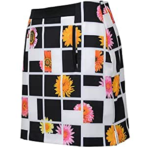 New Womens EP Pro Golf Fancy That Tour Tech Photo Real Floral Block Print Skort Size 8 Black Multi 1321HB