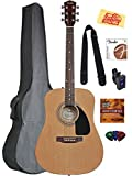 Fender Acoustic Guitar Bundle with Gig Bag, Tuner, Strings, Strap, Picks, Austin Bazaar...
