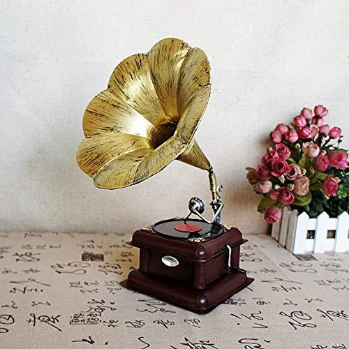 Westtreg Fonógrafo Retro Adornos Europeos fonógrafo Modelo Bar ...